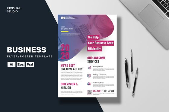 Business: Efficiently Business - Flyer Template #08955