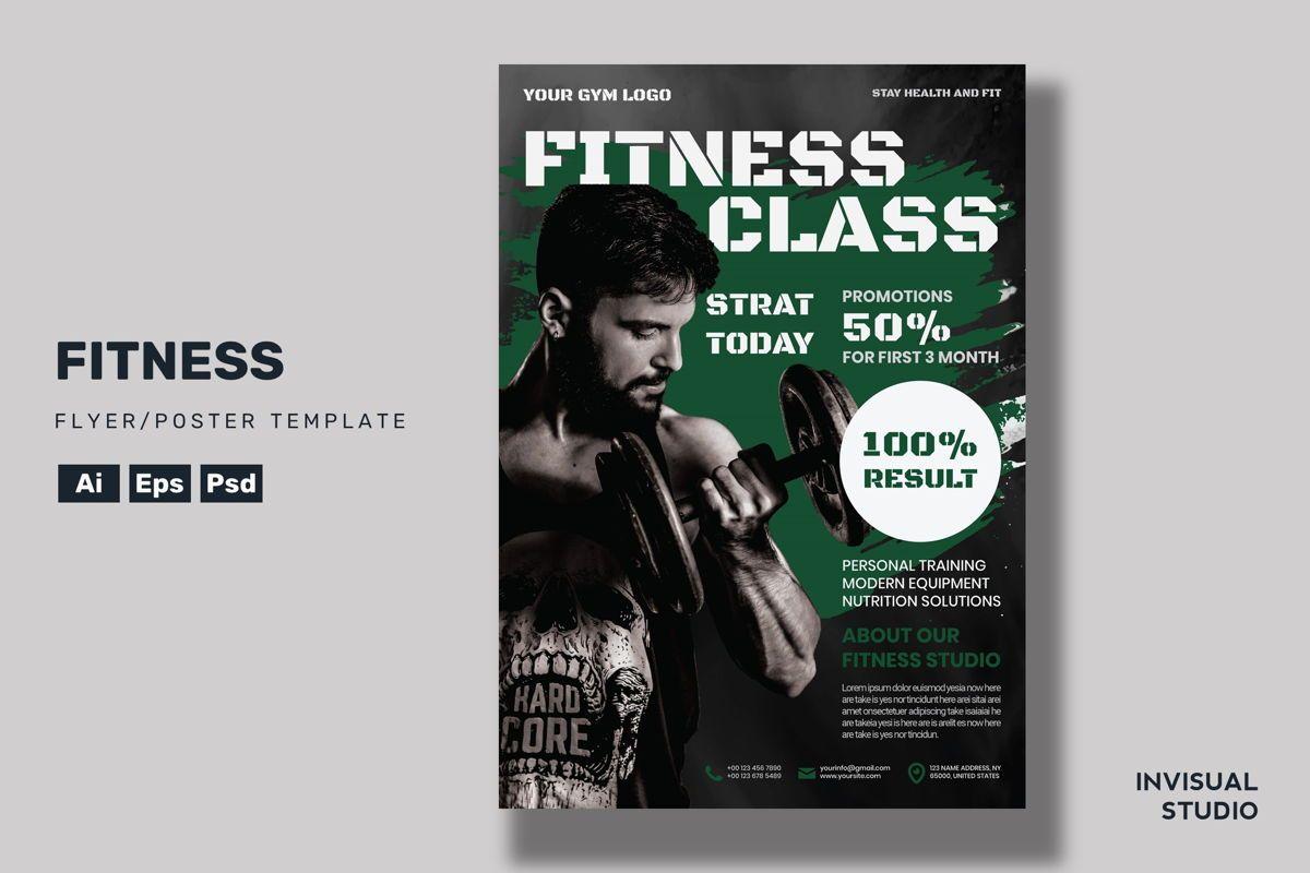 Fitness Class - Flyer Template, 08956, Sports — PoweredTemplate.com