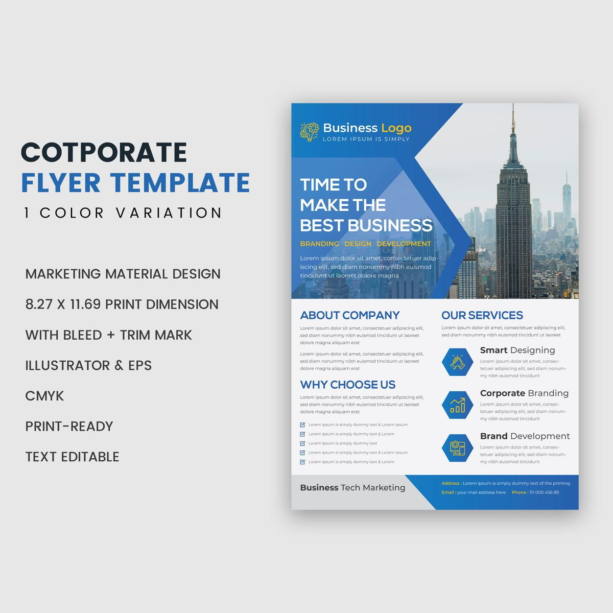 Multipurpose Clean Modern Industrial Flyer Template, 슬라이드 2, 08957, 비즈니스 — PoweredTemplate.com