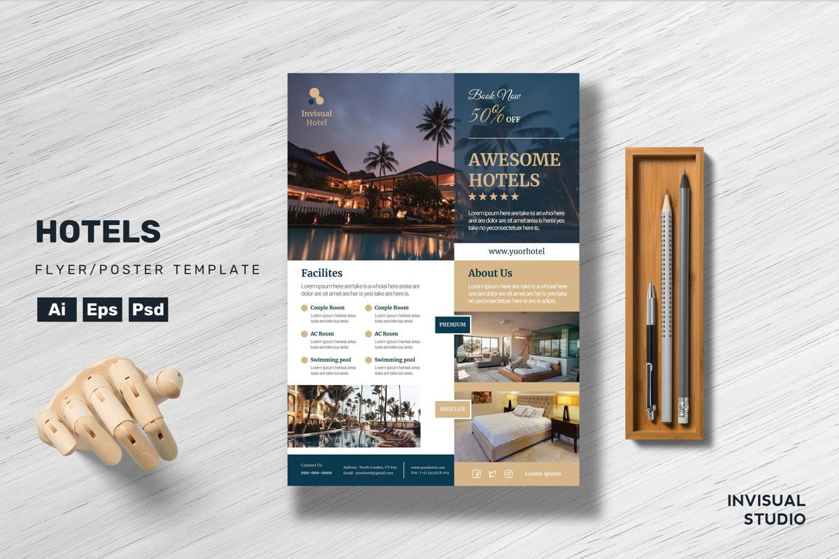 Hotel - Flyer Template, 08958, Holiday/Special Occasion — PoweredTemplate.com