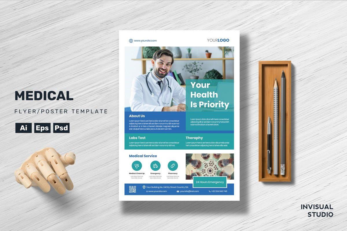 New Medical - Flyer Template, 08959, Medical — PoweredTemplate.com