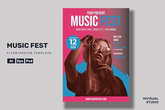 Art & Entertainment: Music Fest - Flyer Template #08960