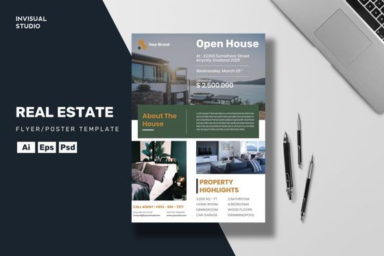 Business Concepts: Real Estate - Flyer Template #08961