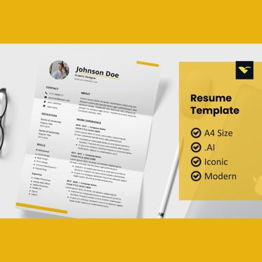People: Clean resume design template #08963