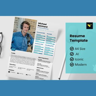 People: Style resume design template #08964