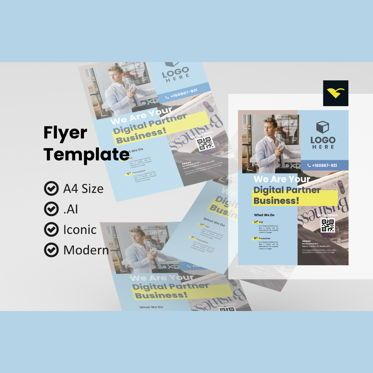 Business: Flyer business design tempalte #08965