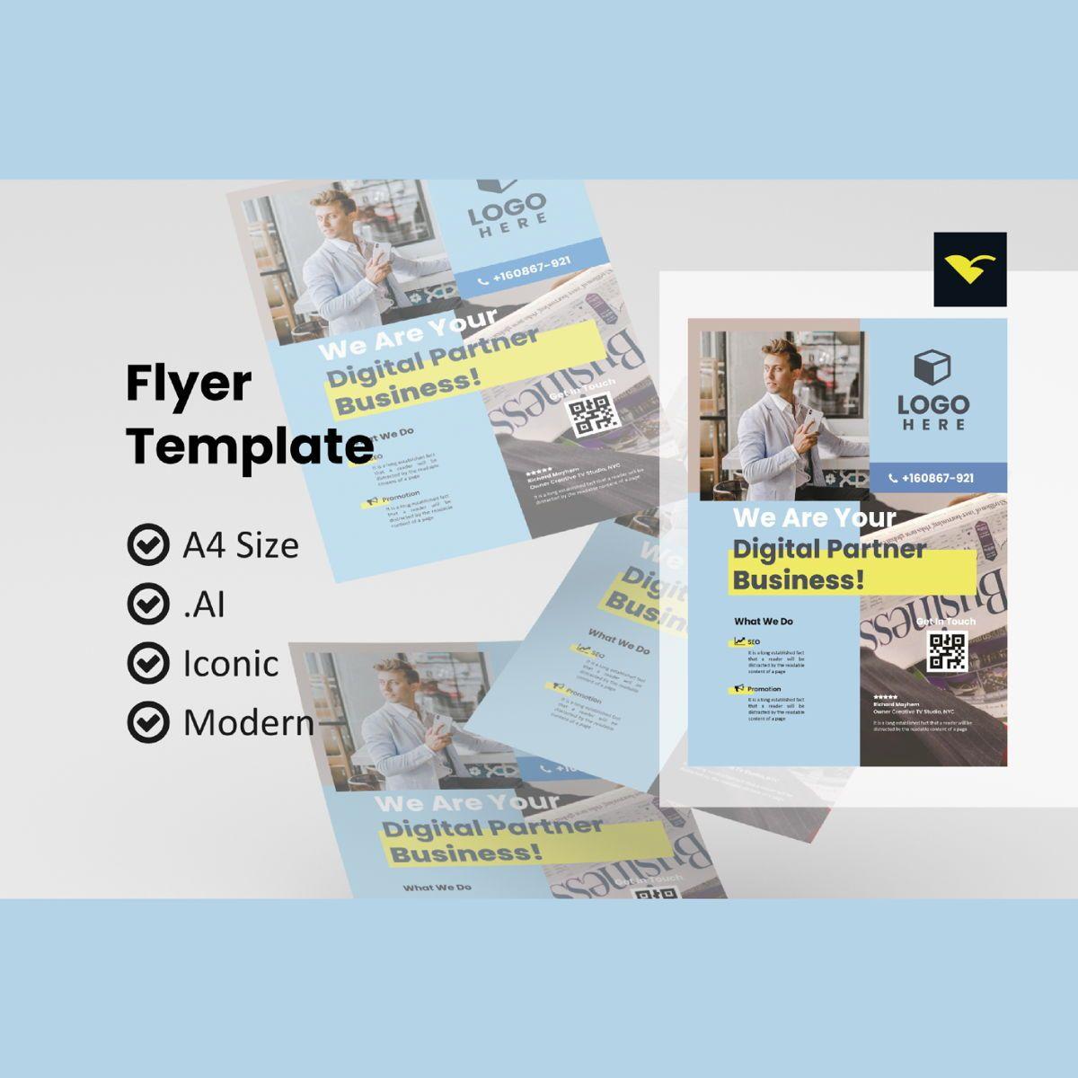 Flyer business design tempalte, 08965, Business — PoweredTemplate.com