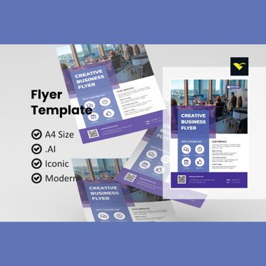 Business: Business simple flyer template #08970