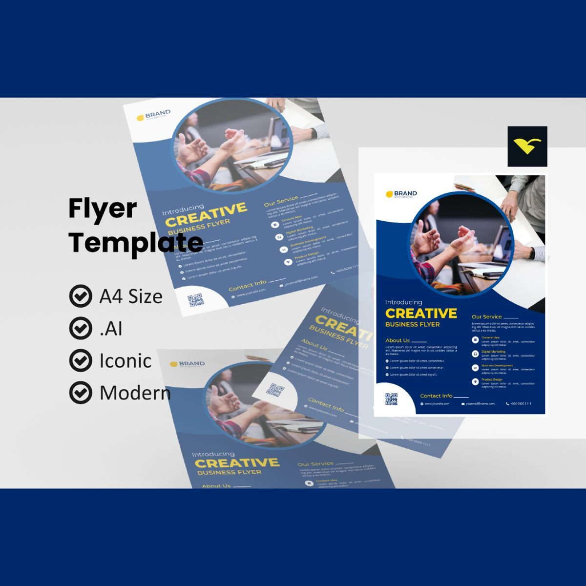 Creative business flyer template, 08972, Business — PoweredTemplate.com