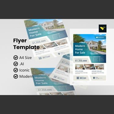 Construction: Business property flyer template #08977