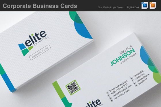 Abstract/Textures: Clean Corporate Business Card Template #08978