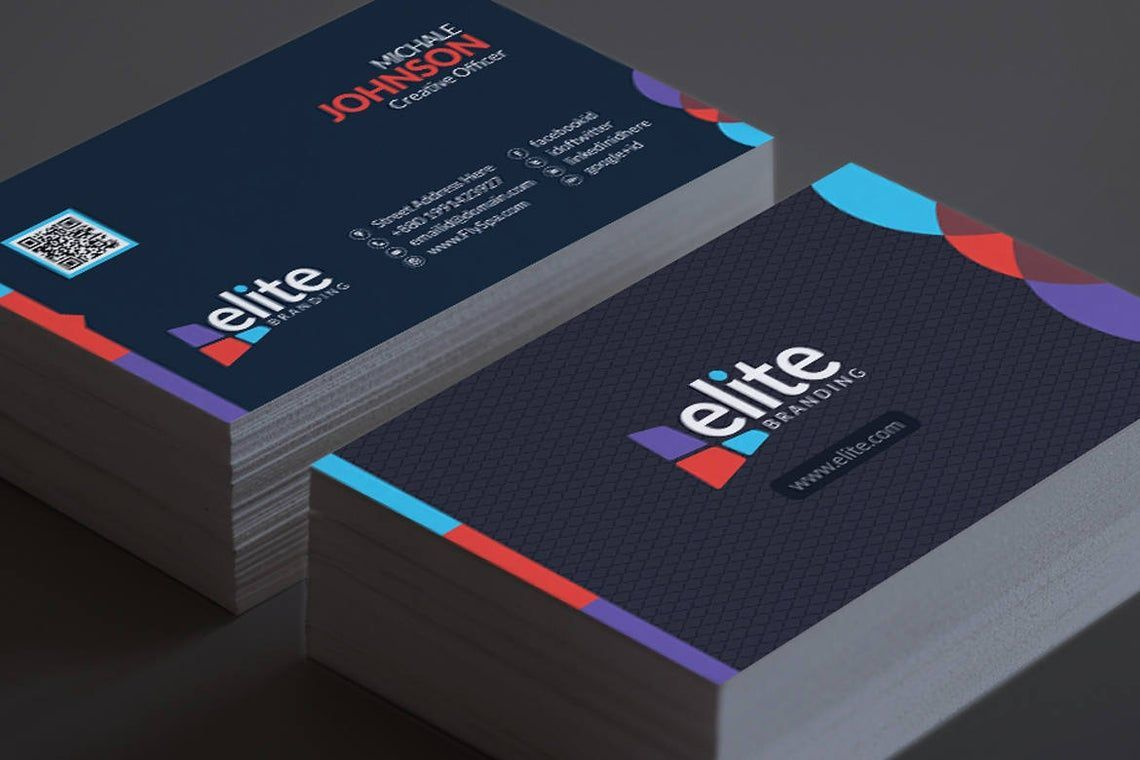 Clean Corporate Business Card Template, スライド 10, 08978, 抽象/テクスチャ — PoweredTemplate.com