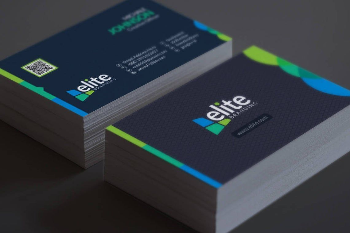Clean Corporate Business Card Template, スライド 7, 08978, 抽象/テクスチャ — PoweredTemplate.com