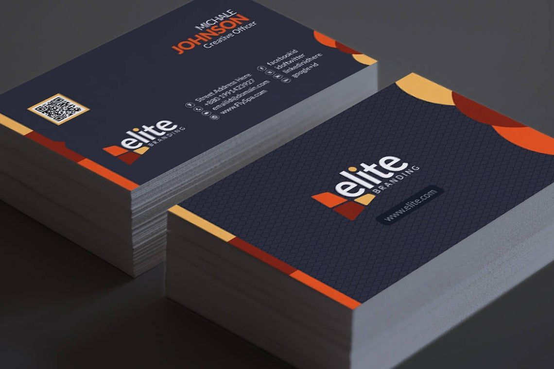 Clean Corporate Business Card Template, スライド 8, 08978, 抽象/テクスチャ — PoweredTemplate.com
