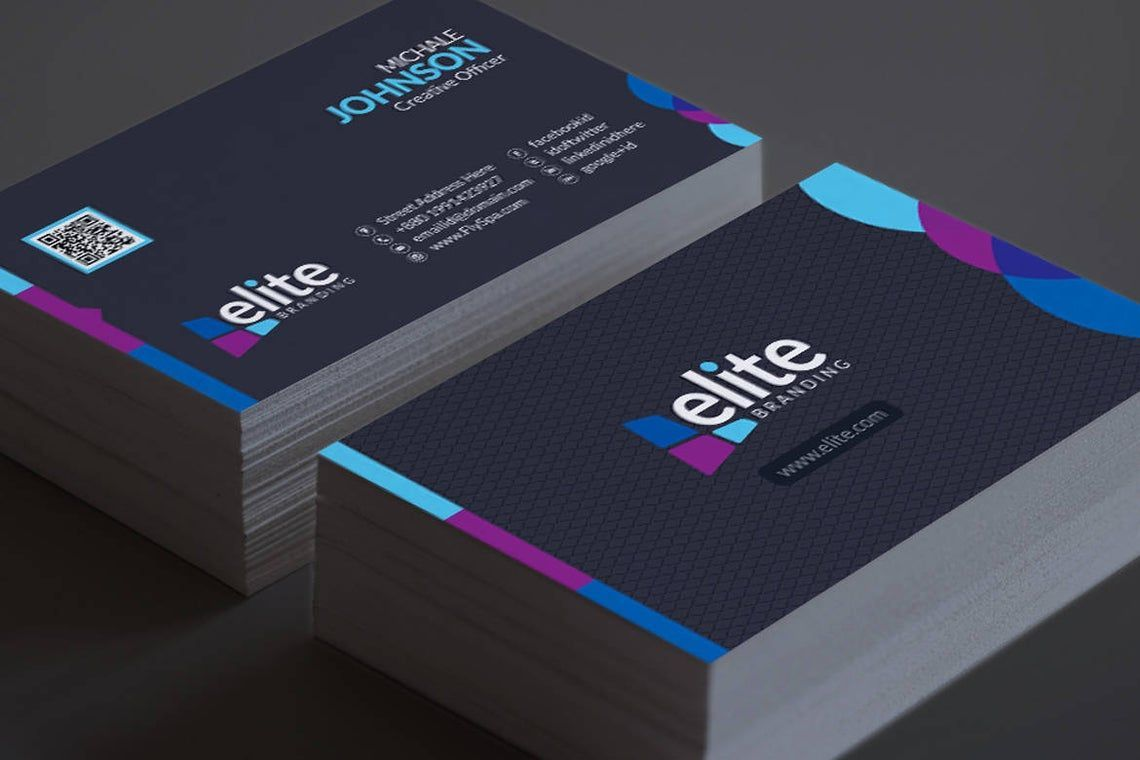 Clean Corporate Business Card Template, スライド 9, 08978, 抽象/テクスチャ — PoweredTemplate.com