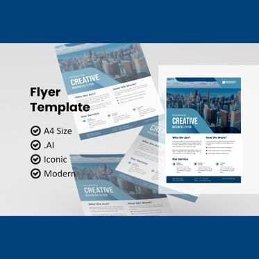 Business: Corporate business flyer template #08986