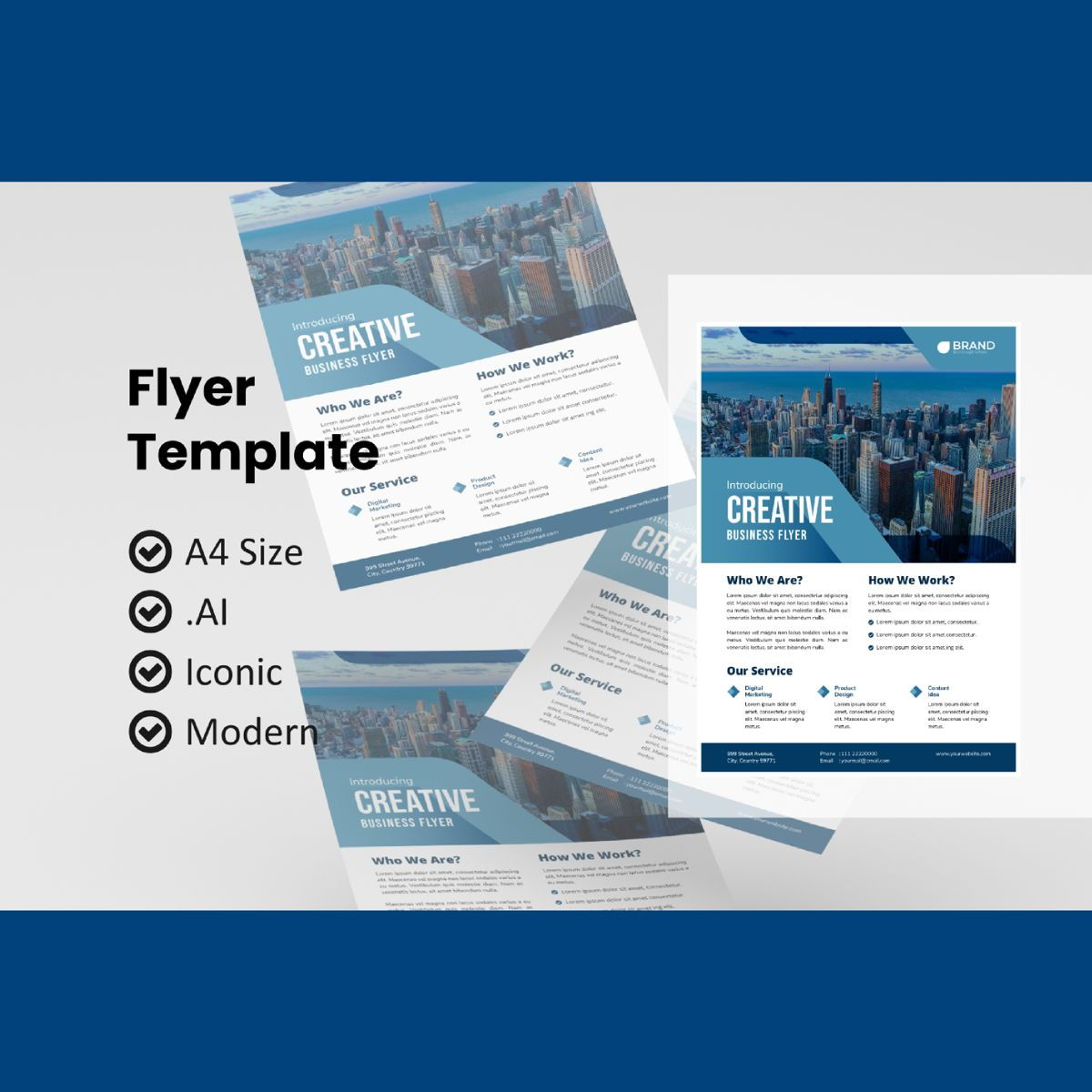 Corporate business flyer template, 08986, Business — PoweredTemplate.com