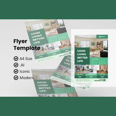 Utilities/Industrial: Business furniture flyer template #08988