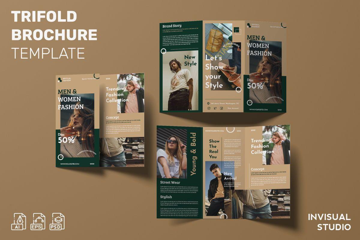 Men Woman Fashion - Trifold Brochure, 08990, Art & Entertainment — PoweredTemplate.com