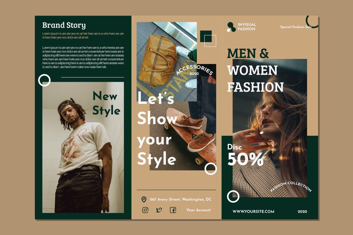 Men Woman Fashion - Trifold Brochure, Slide 3, 08990, Art & Entertainment — PoweredTemplate.com