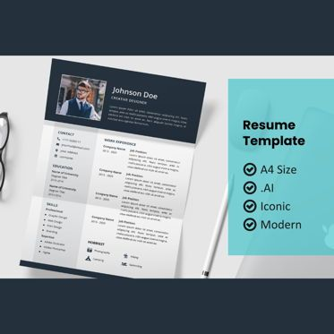 Careers/Industry: Moderne resume design template #08991