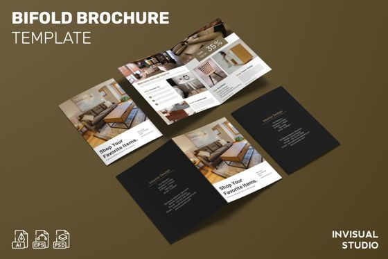 Business Concepts: Shop Your Favorite Item - Bifold Brochure #08992