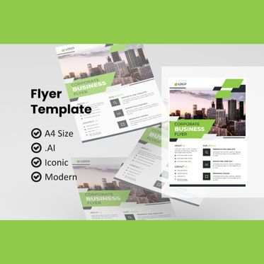 Business: Corporate business flyer template #08993