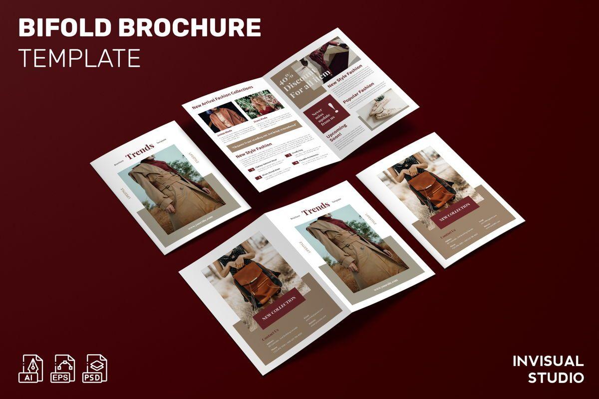 Trends Fashion - Bifold Brochure, 08994, Art & Entertainment — PoweredTemplate.com