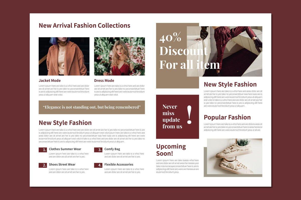 Trends Fashion - Bifold Brochure, Slide 2, 08994, Art & Entertainment — PoweredTemplate.com