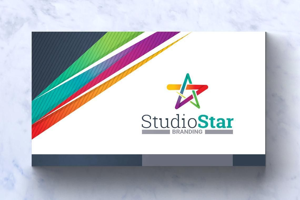 Studio Star Business Card Template, スライド 3, 08995, Art & Entertainment — PoweredTemplate.com
