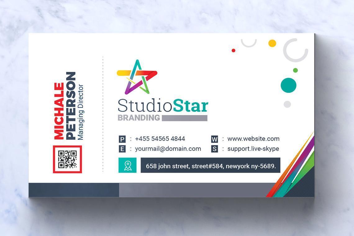 Studio Star Business Card Template, Slide 4, 08995, Art & Entertainment — PoweredTemplate.com