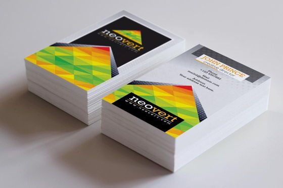 Business: Neovert Colorful Business Card Template #08997