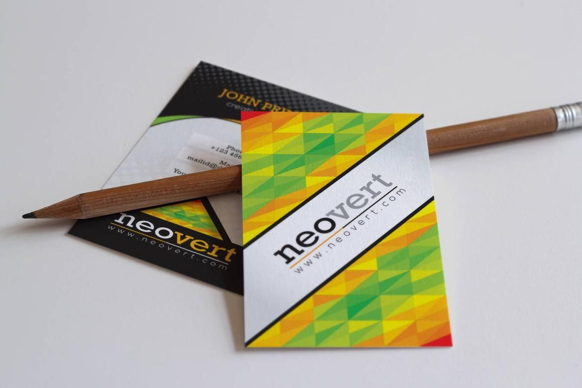 Neovert Colorful Business Card Template, Slide 2, 08997, Business — PoweredTemplate.com