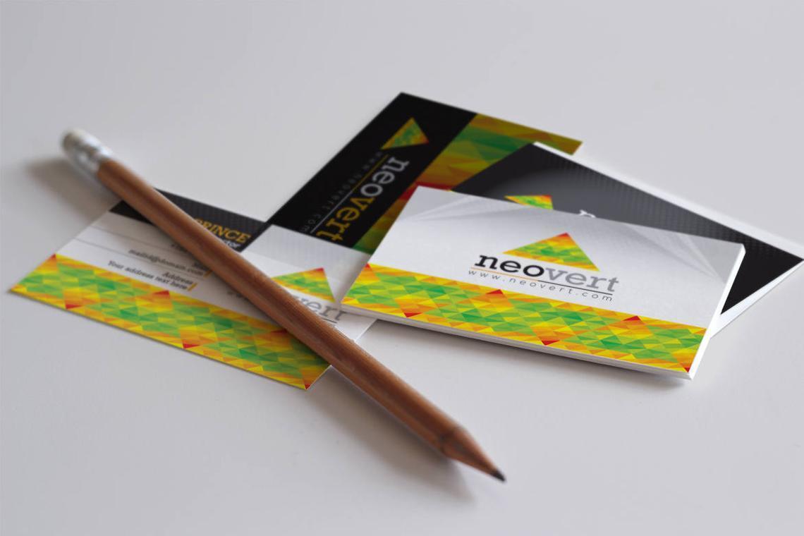 Neovert Colorful Business Card Template, Slide 4, 08997, Business — PoweredTemplate.com