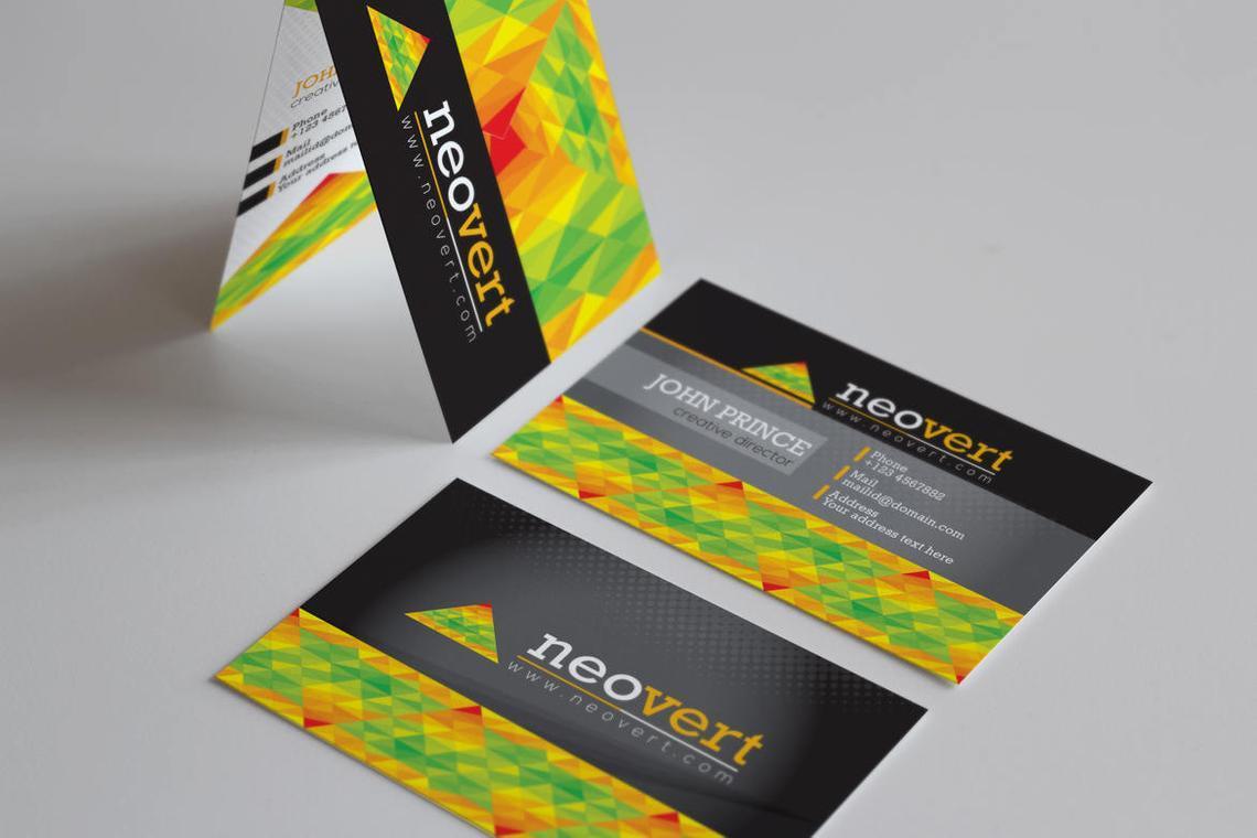 Neovert Colorful Business Card Template, Slide 5, 08997, Business — PoweredTemplate.com