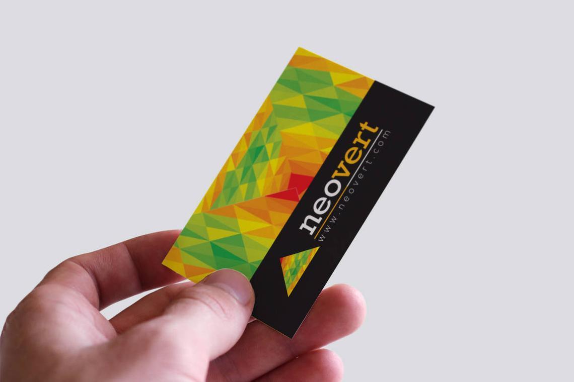 Neovert Colorful Business Card Template, Slide 6, 08997, Business — PoweredTemplate.com