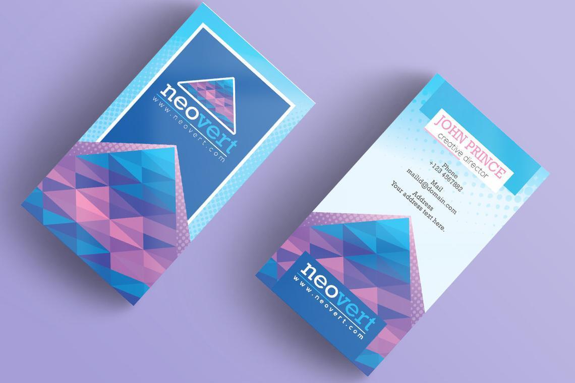 Neovert Colorful Business Card Template, Slide 7, 08997, Business — PoweredTemplate.com