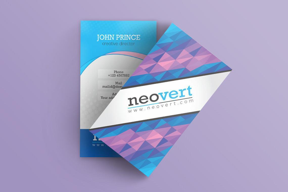 Neovert Colorful Business Card Template, Slide 8, 08997, Business — PoweredTemplate.com