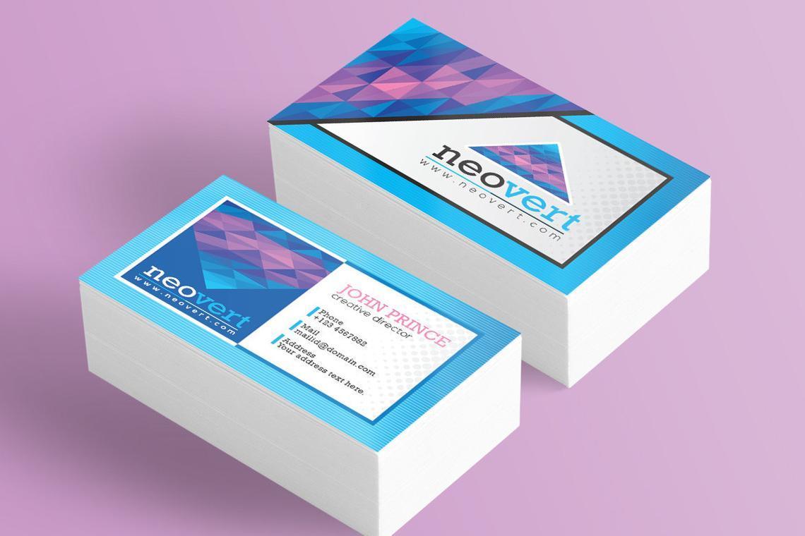 Neovert Colorful Business Card Template, Slide 9, 08997, Business — PoweredTemplate.com