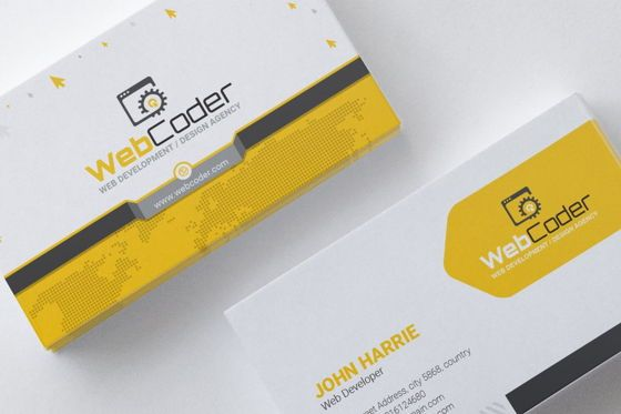 Consulting: WebCoder Business Card for Web Design and Development Agency #08999