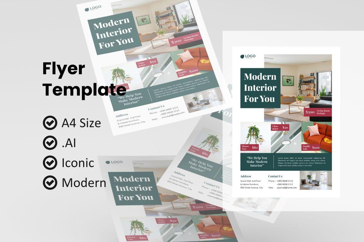Business interior flyer template, 09003, Nature & Environment — PoweredTemplate.com