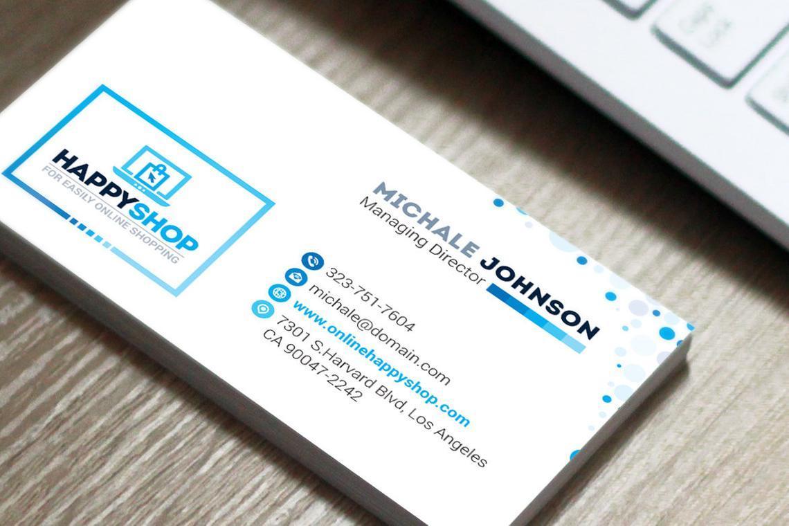 HappyShop - Business Card Template for E-Commerce Shop, Diapositive 5, 09004, Business — PoweredTemplate.com