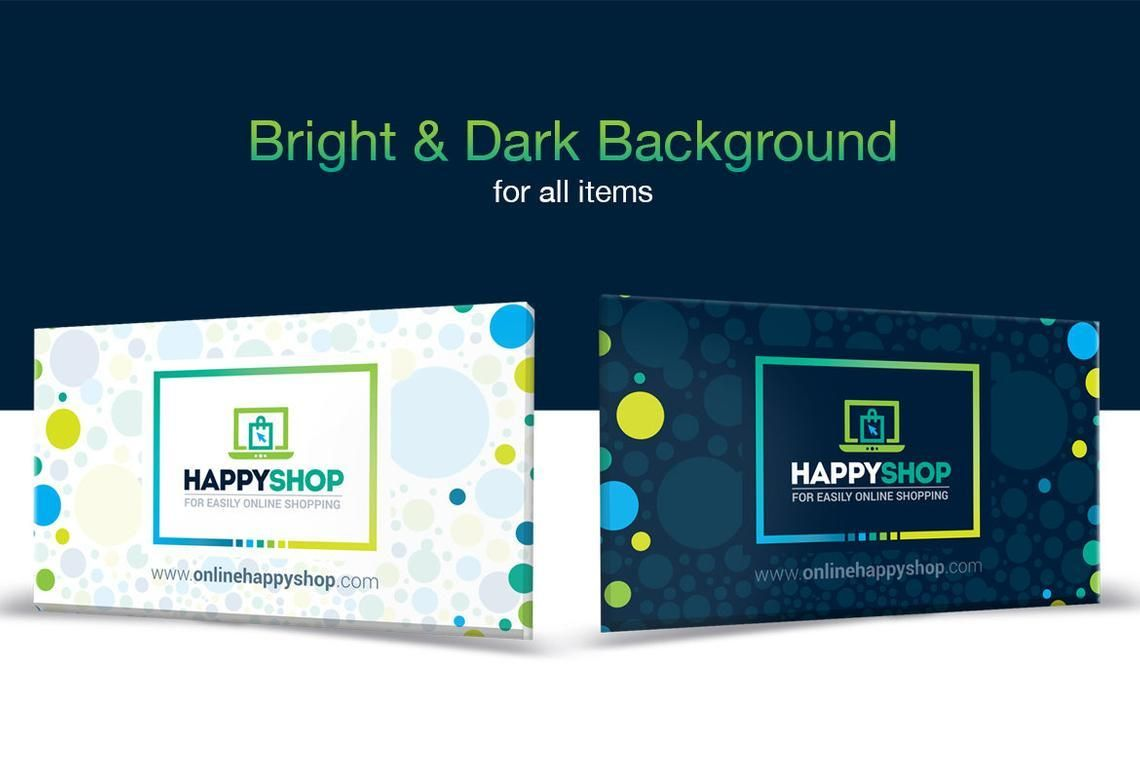 HappyShop - Business Card Template for E-Commerce Shop, スライド 6, 09004, ビジネス — PoweredTemplate.com