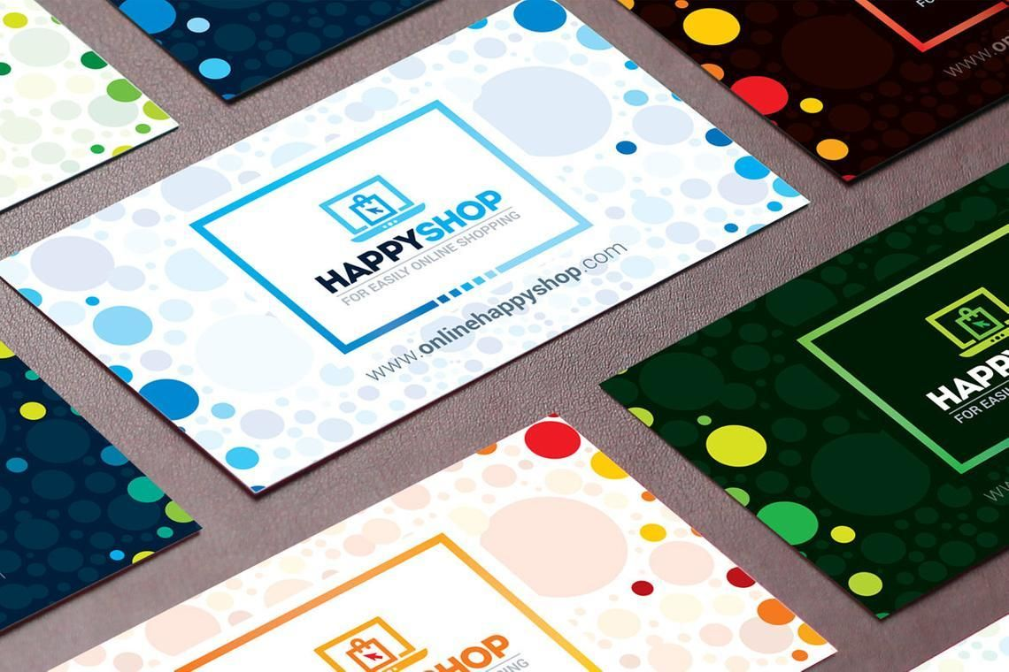 HappyShop - Business Card Template for E-Commerce Shop, スライド 7, 09004, ビジネス — PoweredTemplate.com