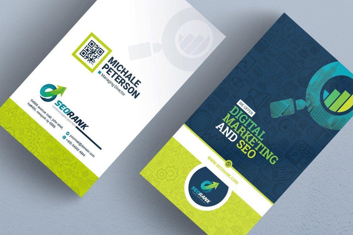 SeoRank - Business Card for SEO and Online Marketing Company, 09005, キャリア/産業 — PoweredTemplate.com