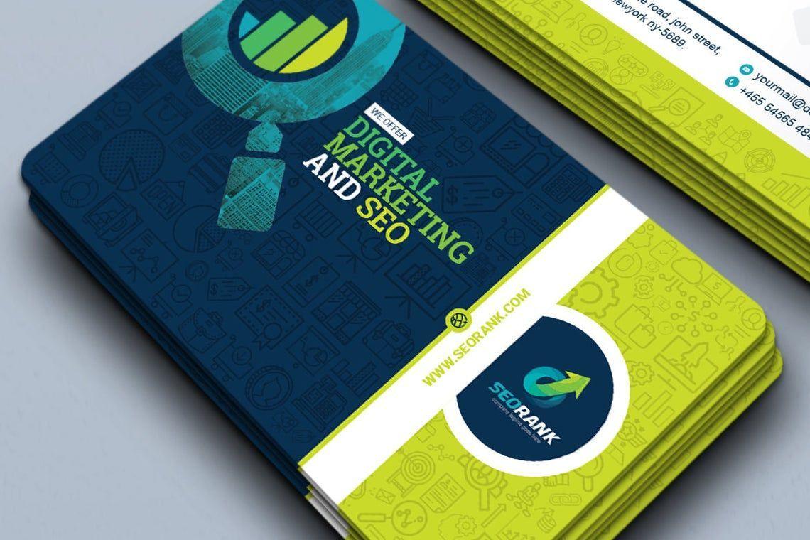SeoRank - Business Card for SEO and Online Marketing Company, 幻灯片 2, 09005, 职业/行业 — PoweredTemplate.com