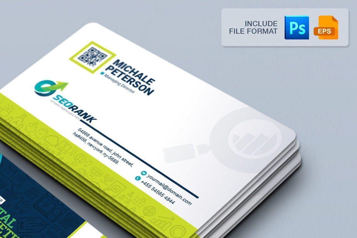 SeoRank - Business Card for SEO and Online Marketing Company, 幻灯片 3, 09005, 职业/行业 — PoweredTemplate.com