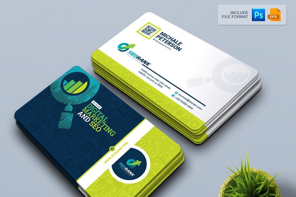 SeoRank - Business Card for SEO and Online Marketing Company, 幻灯片 4, 09005, 职业/行业 — PoweredTemplate.com