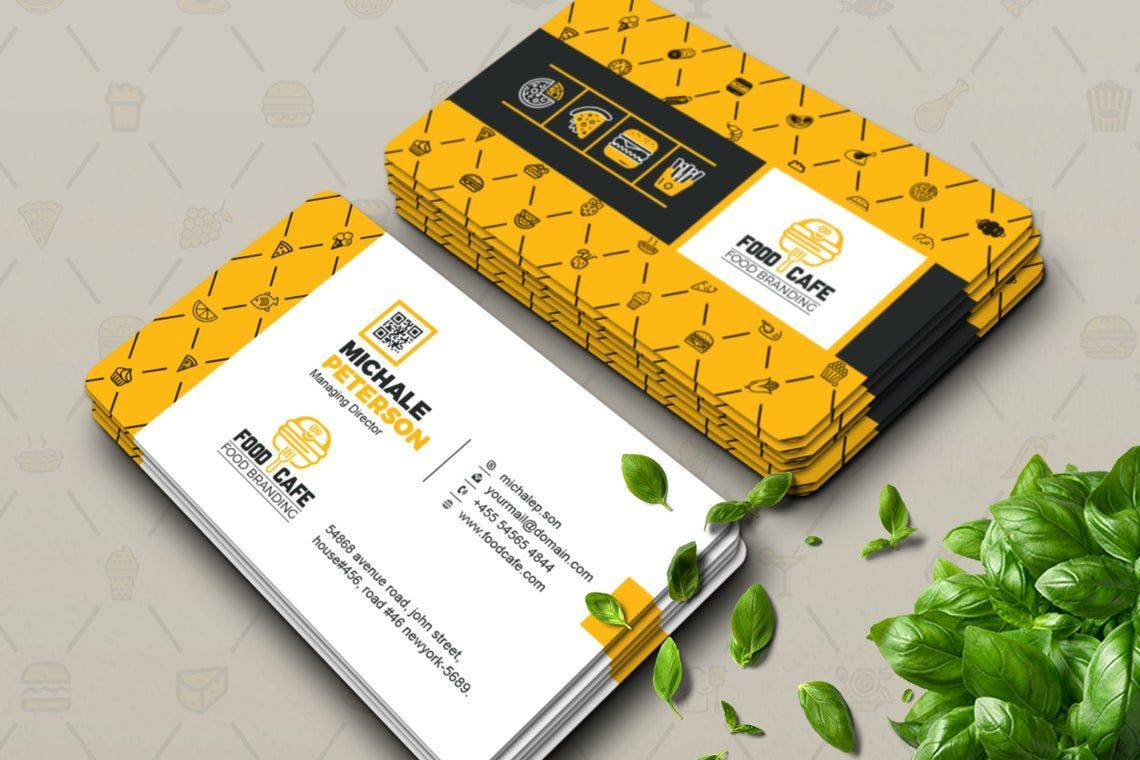FoodCafe - Business Card for Fast Food Company, 09006, Food & Beverage — PoweredTemplate.com
