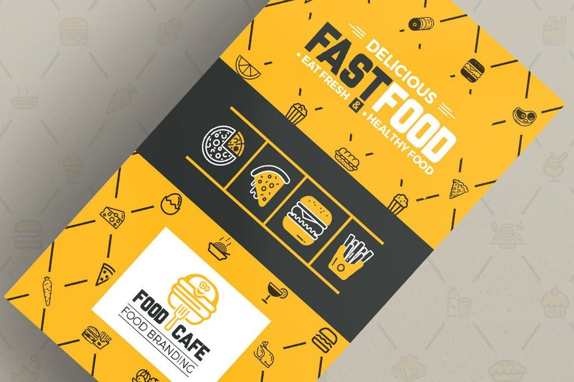 FoodCafe - Business Card for Fast Food Company, 幻灯片 2, 09006, Food & Beverage — PoweredTemplate.com